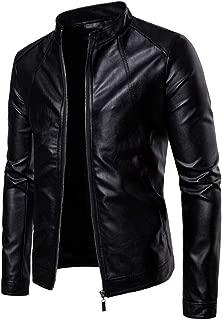 NOEINA メンズ コート レザージャケット PUレザー 合成皮革 メンズ ジャケット ファッション ライダースジャケット