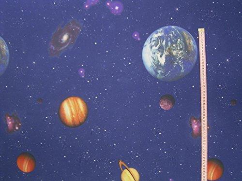 Gardinen Vorhang Verdunklungsstoff Planeten im Weltraum