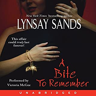 A Bite to Remember     Argeneau Vampires, Book 5              Written by:                                                                                                                                 Lynsay Sands                               Narrated by:                                                                                                                                 Victoria McGee                      Length: 10 hrs and 13 mins     1 rating     Overall 5.0