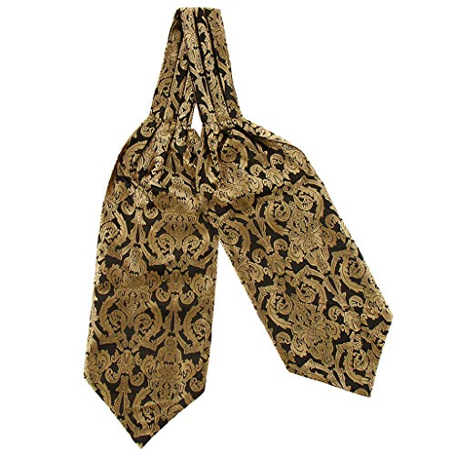 P Prettyia Herren Krawattenschal Paisley Jacquard Krawatte Taschentuch Ascot