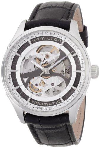 Hamilton Jazzmaster Viewmatic H42555751 Reloj automático de Piel Negra para Hombre