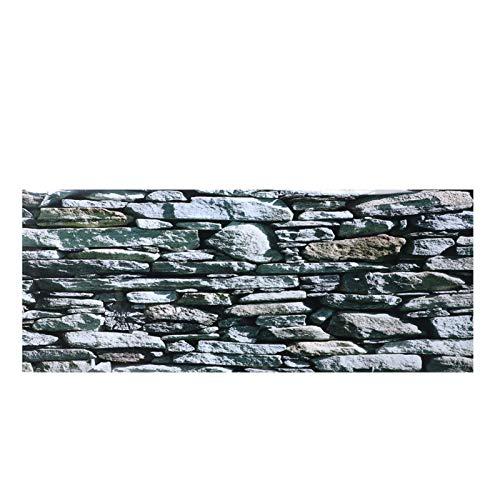 Pegatina Decorativa de Acuario, Pinturas de Paredes de Piedra Papel Tapiz de pecera fácil de aplicar y Quitar Pegatinas de PVC imágenes póster decoración de Fondo(61 * 30cm)