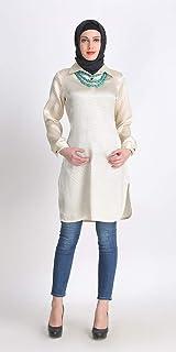 Muslim Women's Elegant Trendy Party Wear Modest Tunic Kurti Dress