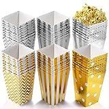 POAO 50 Stück Popcorn Boxen, Pappe Candy Container Partytüten Behälter für Party Geburtstag...