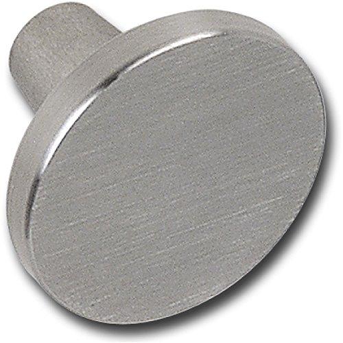 Bouton de porte ø 35 mm, profondeur 23 mm, brossé stainless acier