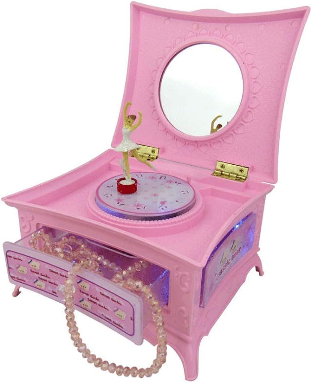DYU Ballett redierende Spieluhr Kosmetik Aufbewahrungsbox 18 Ton Uhr Massivholz Spieluhr Schmuckschatulle Geburtstag