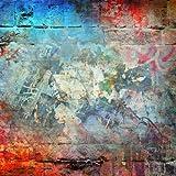 Fondo de fotografía de Pared de ladrillo de Graffiti Antiguo pelado cumpleaños recién Nacido Retrato de Estudio de niño Foto de Fondo Foto A4 5x3ft / 1.5x1m