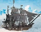 Brigamo Dark Pearl Bausteine Piratenschiff, Konstruktionsspielzeug, 714 Klemmbausteine