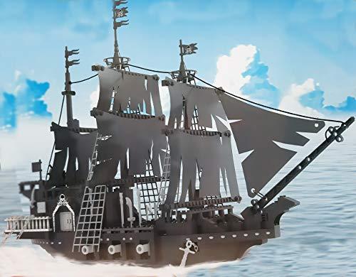 Brigamo Dark Pearl Bausteine Piratenschiff, Konstruktionsspielzeug, 659 Klemmbausteine
