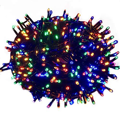 HENGMEI 100m LED Lichterkette Lichterwand Bunt Lichtervorhang 8 Leuchtmodi IP44 Wasserfest Innen/Außen für zimmer Dekor, Weihnachten, Halloween