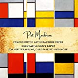 Piet Mondrian Famous Dutch Art Scrapbook Paper | Decorative Craft Paper for Gift Wrapping, Card Making and More: Premium Sheets for Scrapbooking ... Gift for Women (Abstract Art Scrapbook Paper)