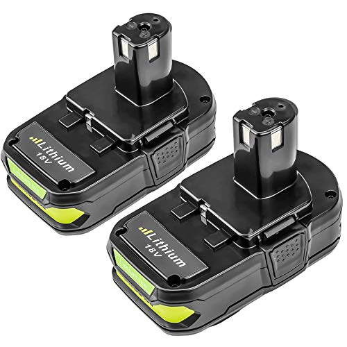 P102 2 Pack Replacement for Ryobi 18V Lithium Battery P103 P104 P105 P107 P108 P109 P190 P191 P122, Compatible with Ryobi 18-Volt ONE+ Cordless Tools