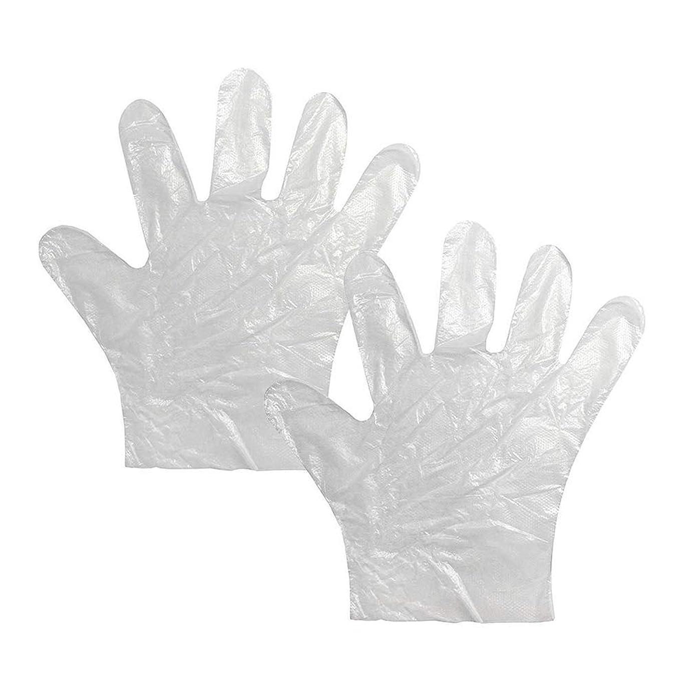 一時的変換返済使い捨て手袋 極薄ビニール手袋 耐久性が強い上に軽く高品質 透明100枚*2セット