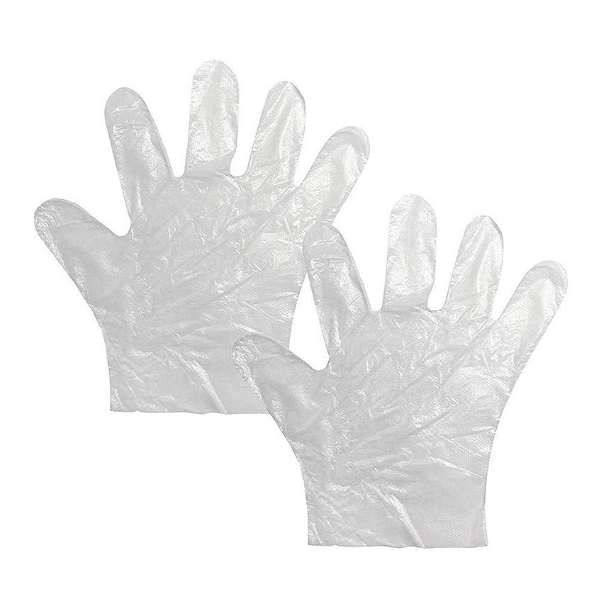 ローン狭い政治家使い捨て手袋 極薄ビニール手袋 耐久性が強い上に軽く高品質 透明100枚*2セット