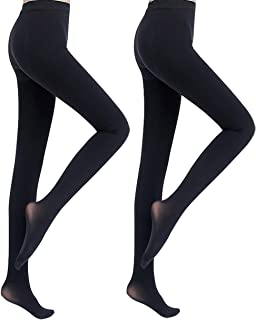 Womens 2 Pairs Run Resistant Pantyhose 30 Denier Opaque Tights Full Length Reinforced Slimming Stockings