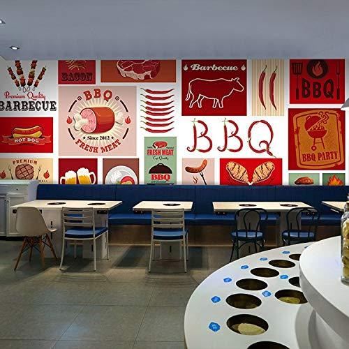 ACYKM 3D Wandgemälde benutzerdefinierte wandbild amerikanischen rindfleisch steak grill icon mural...