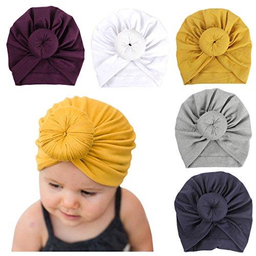 Newborn Baby Cotton Cloth Turban Toddler Rabbit Hospital Hat Ear Hat Kids Set Baby Cap (NN65, Baby)