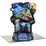 Hallmark Paper Wonder Star Wars Pop Up Birthday Card with Music (Out of This Galaxy, Plays Star Wars Theme)