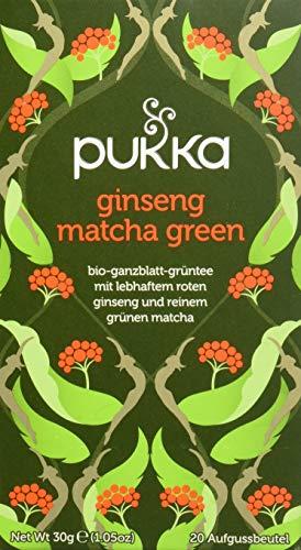 Pukka BIO Tee Ginseng Matcha Green, 20 Beutel