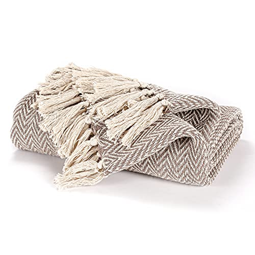 EHC Cotton Handwoven Reversible Single Sofa Throw Arm Stuhlbezug 125 x 150 cm - Beige