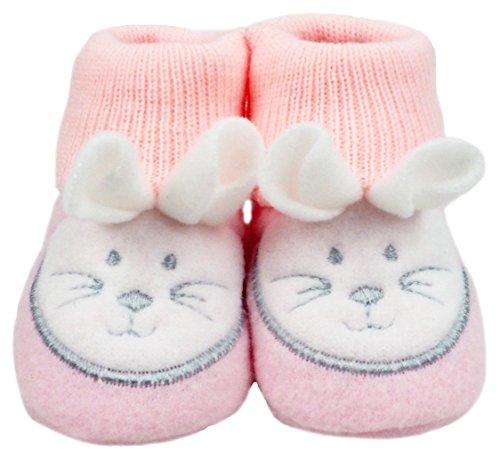 France Tendances Baby Schuhe Strickschuhe Erstlingsschuhe Mäuse das kleine Geschenk (0-3 Monate) Rosa