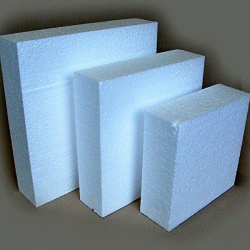 Lerouge en Vert 5420020634484 Gâteau carré, Polystyrène, Blanc, 30 x 30 x 7 cm