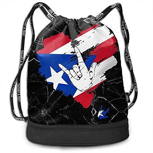 jenny-shop I Love You Puerto Rico Heart Drawstring Bag Mochi