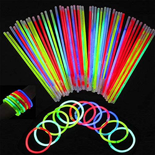 100 Stück Knicklicht-Verbindungsstücke für Knicklicht-Armbänder, Brillen, Blumen, Haarreifen, Schmetterlinge, leuchten im Dunkeln