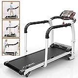 XWDQ Walking Jogging Fitness Exercise Treadmill Cardio Electric Running Machine Treadmill for Senior Elders W/Extra-Long Handles,12811560CM