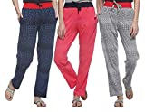 Shaun Women's Cotton Track Pants (Pack of 3)