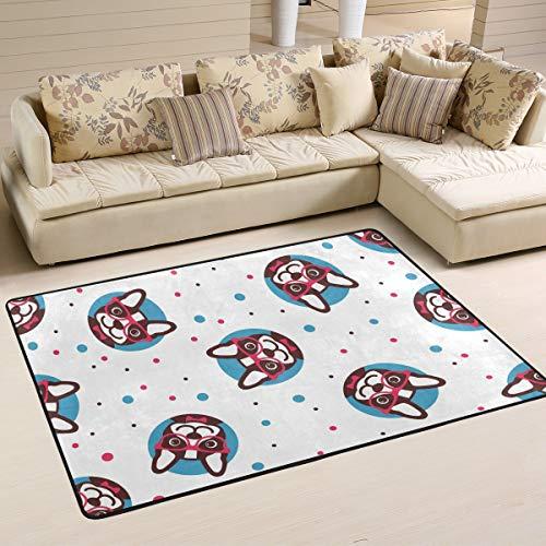 Rootti - Alfombra antideslizante para sala de estar, comedor, dormitorio, cocina, pasillo, piso, felpudo, 182 cm x 122 cm