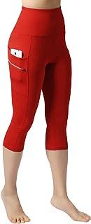 ODODOS Dual Pocket High Waist Workout Pants,Tummy Control Yoga Gym Running Leggings,Non See-Through Yoga Pants