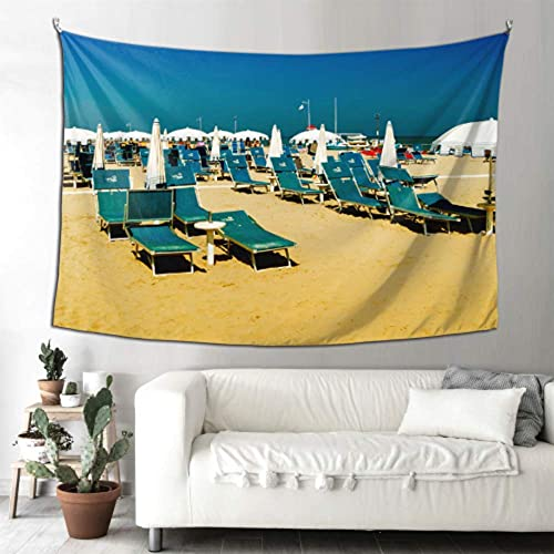N\A Hanging Wall Decor Bathroom Sunbeds On The Beach Tapestry Rugs USA Wall Decor Wall Hanging Art Home for Living Room Bedroom