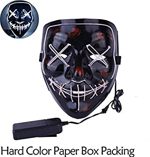 TANGGOOO Halloween Mask Up Party Masks The Purge Election Year Great Funny Masks Festival Cosplay Costume Supplies Glow in Dark Cool Must Haves The Favourite DVD Superhero Dream