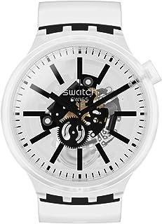Swatch Big Bold Swiss Quartz Silicone Strap, Transparent, 24 Casual Watch