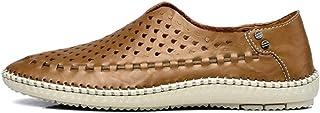 DADIJIER Moda Transpirable Penny Mocasines para Hombres de Cuero Genuino Ligero cómodo con Forro Antideslizante Zapatos Ca...