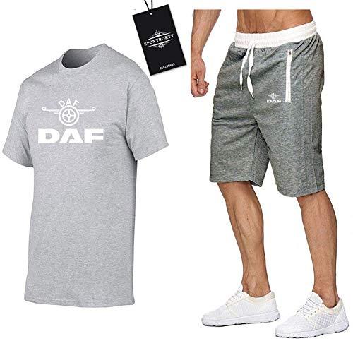 Jasmin Busse Hombres Y Mujer Camiseta Bermudas Chandal Conjunto por D_A-F Dos Piezas Corto Manga Tee Pantalones Ropa Deportiva Y/Gray/M