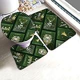 florasun Jäger-Mei-Ster - Juego de 3 alfombrillas hexagonales para baño (espuma viscoelástica, 61...