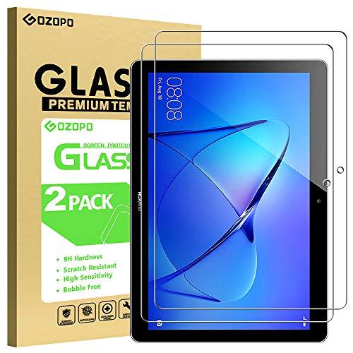 GOZOPO Protector de Pantalla para Huawei MediaPad T3 10 (9,6 pulgadas) [2.5D Edge] Huawei MediaPad T3 9.6' [Anti-arañazos] [sin burbujas]