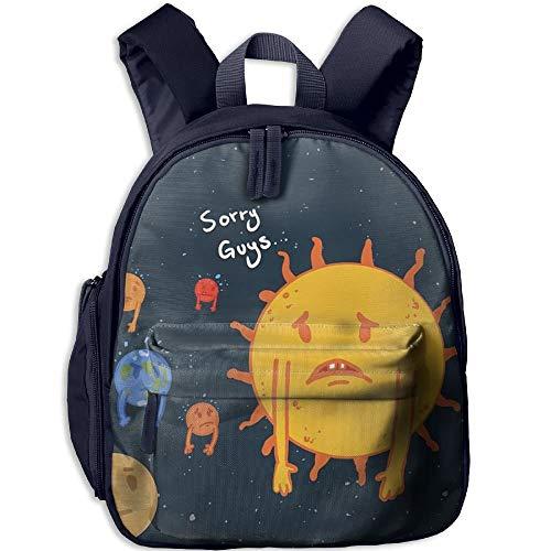 Hdadwy Sun Solar System Children Bag Durable Student Backpack Funny