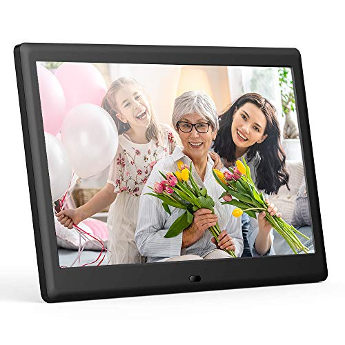 DBPOWER 7 Inch Digital Picture Frame - Upgraded Digital Photo Frame with (16:9) HD IPS Display, Photo/Music/Video Player/Calendar/Clock/Auto-On/Off Timer, Advertising Player with Remote