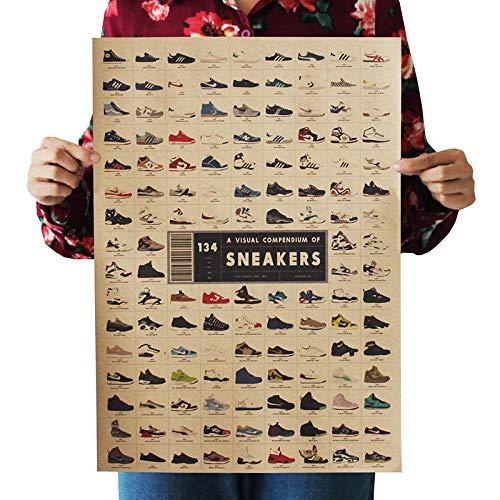 Wandaufkleber Home Poster, Dekorative Malerei 35x51cm-sneakers Daquan_51.5 * 36cm