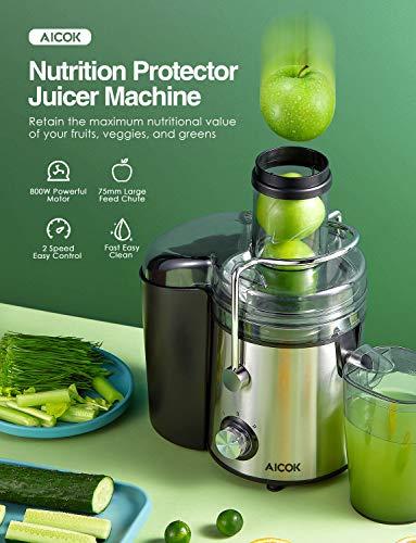 AICOK Licuadoras para Verduras y Frutas Extrae