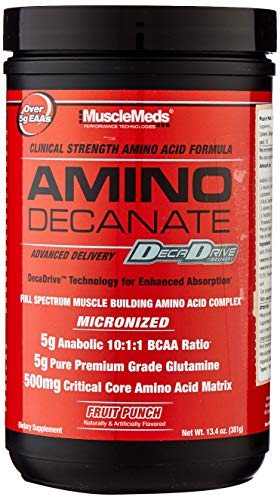 MUSCLEMEDS Amino Decanate Fruit Punch, 360 g