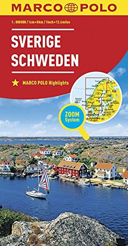 MARCO POLO Länderkarte Schweden 1:800 000: Wegenkaart 1:800 000