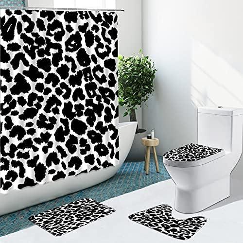 Irregular Geometric Pattern Shower 1 year warranty Curtains Ru Non-Slip Great interest Pedestal
