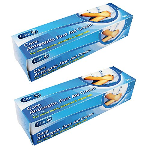 Care+ Antiseptic First Aid Cream 30g - for Minor Burns, Abrasions & Nappy Rash – Pack of 2