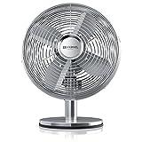 Brandson – Ventilatore da Tavolo Silverline retró - 29cm Diametro con 3 Livelli di...
