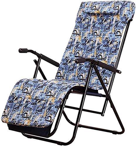 PAKUES-QO Sillón reclinable Plegable Silla reclinable Sillas de terraza Jardín Playa Tumbonas reclinables para el Almuerzo Tumbonas con Funda de Asiento