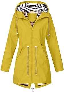 KIKOY Women's Outdoor Warm Waterproof Windbreaker Raincoat Hooded Rain Jacket
